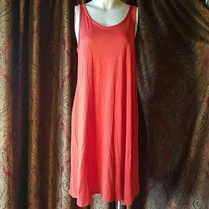 Tomato red thin comfortable dress